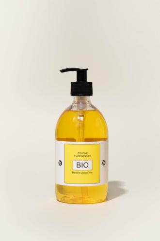Flüssige Bio-Seife ZITRONE 500-ml